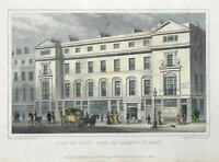 REGENT STREET, WEST SIDE, LONDON Original Hand Coloured antique print 1829