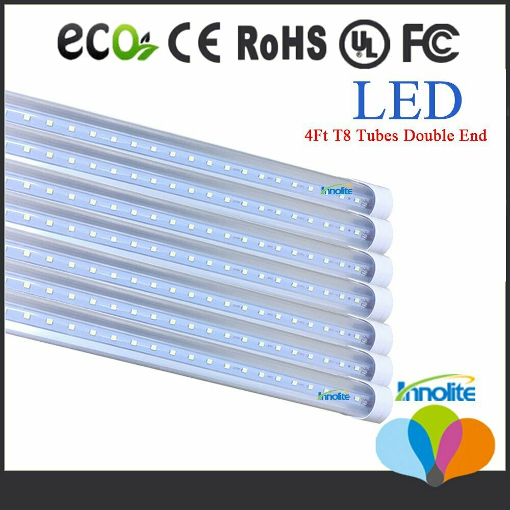 10 100 Pack 18w 4 Foot Led T8 Replacement Tubes 4ft Fluorescent Lamp 6500k White Ebay