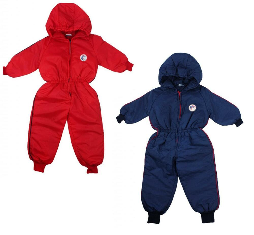7fc9dada40e8 Boys Snow Suit Coat Swallow Motif Padded Hooded Ski Suit Pramsuit 6 to 18  Months