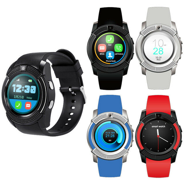 Circular round face bluetooth smart watch with mic phone mate for android iphone ebay for Android watches