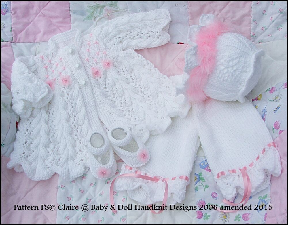 e621ea5bb BABYDOLL HANDKNIT DESIGNS KNITTING PATTERN F8 MATINEE SET 16-22 ...