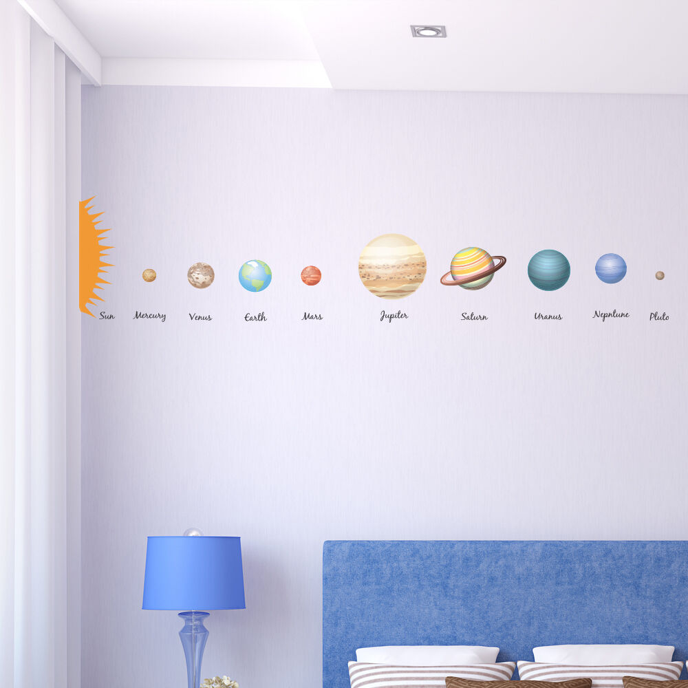 educational solar system planets children39s wall decal With educational solar system wall decals
