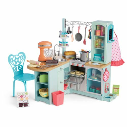 New american girl gourmet kitchen set for 18 inch tall for Girls kitchen set