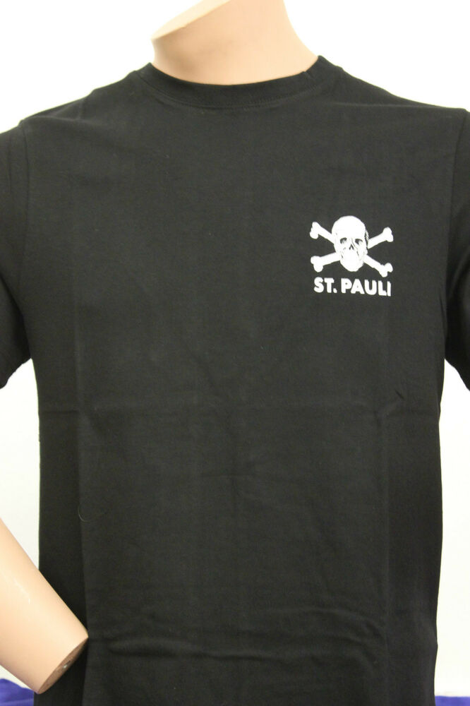 fc st pauli shirt totenkopf schwarz s l xxl neu ebay. Black Bedroom Furniture Sets. Home Design Ideas
