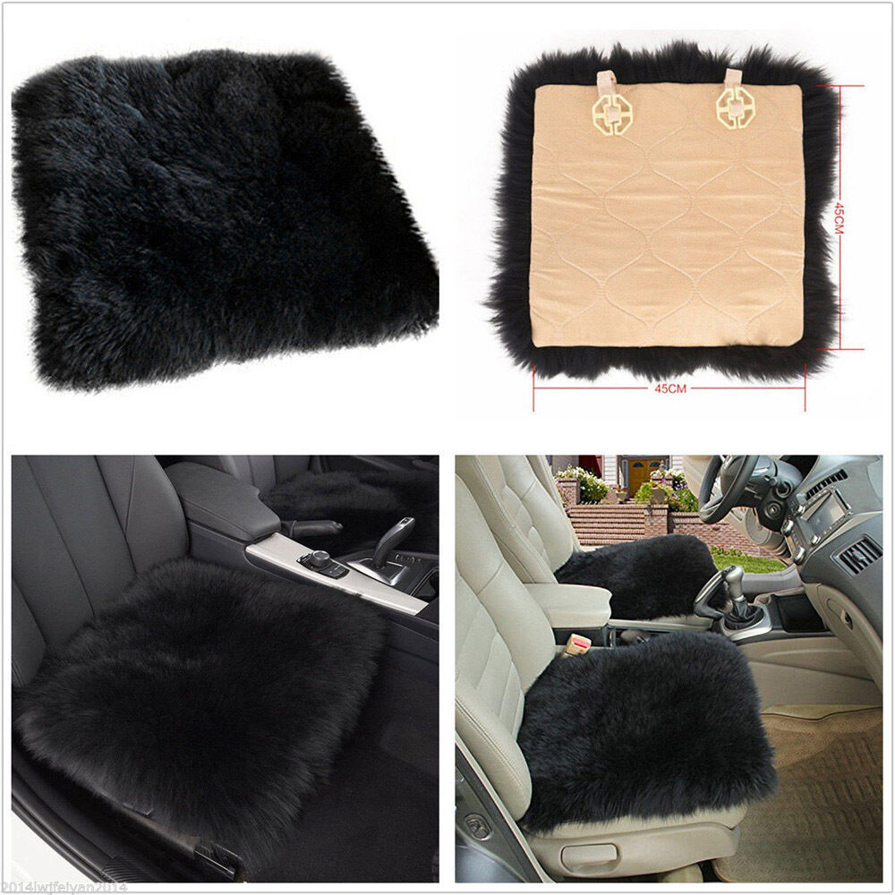 Car Seat Covers Sheepskin Long Wool Chair Cushion Seat