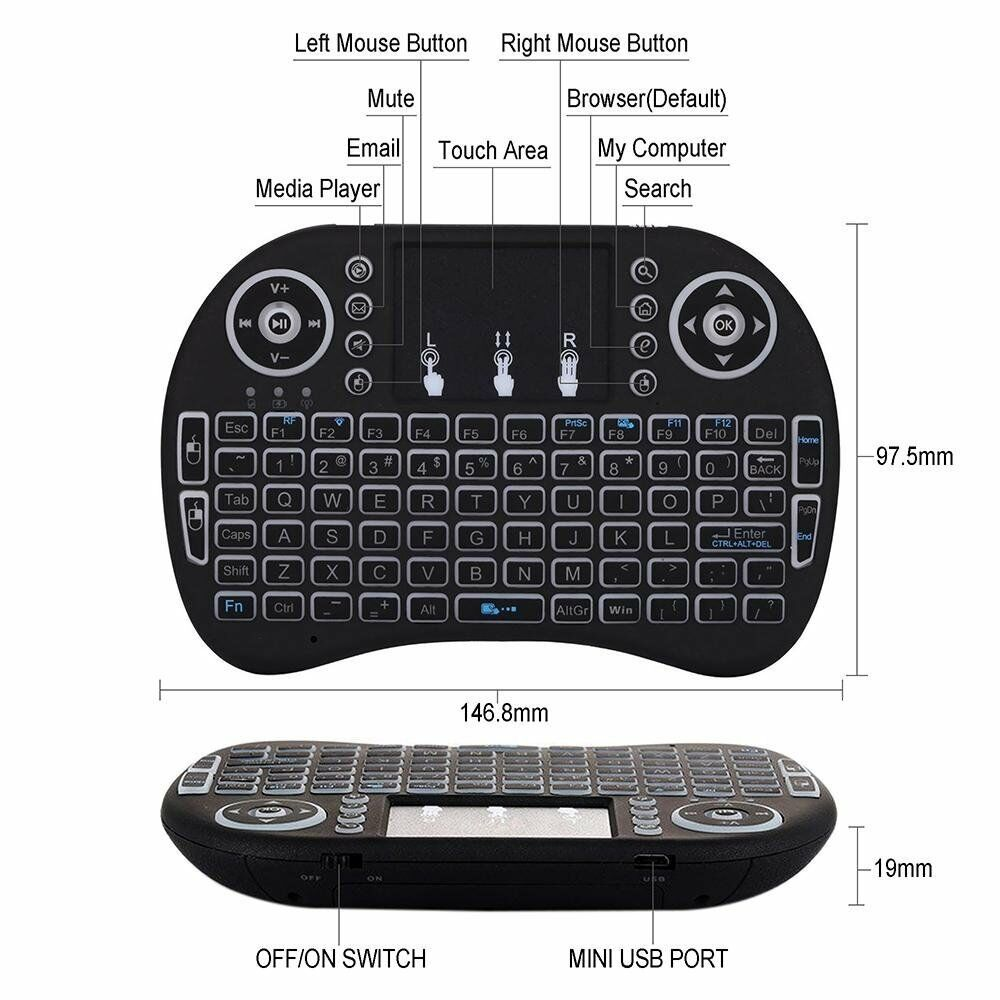 NY, 10036 bluetooth keyboard with touchpad for android the