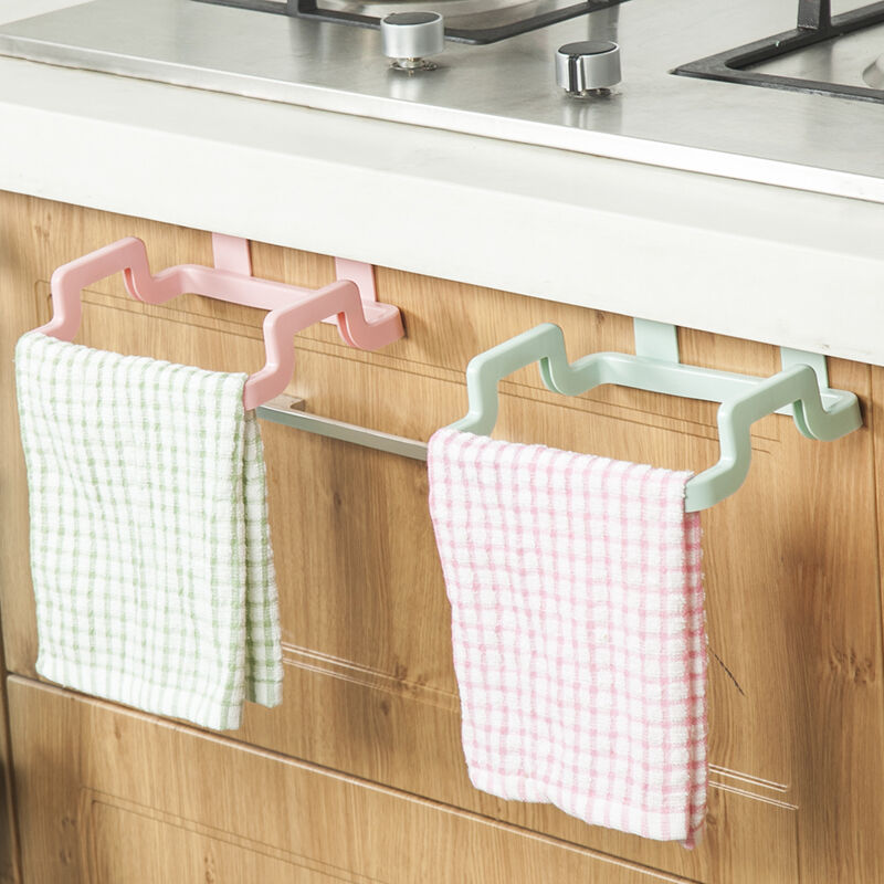 kitchen door rack organizer rail organizer bathroom kitchen cabinet towel rack holder 4706