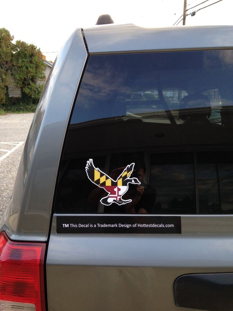 MARYLAND GOOSE DECAL STICKER TRUCK CAR WINDOW BOAT Waterfowl - Window stickers for cars canada