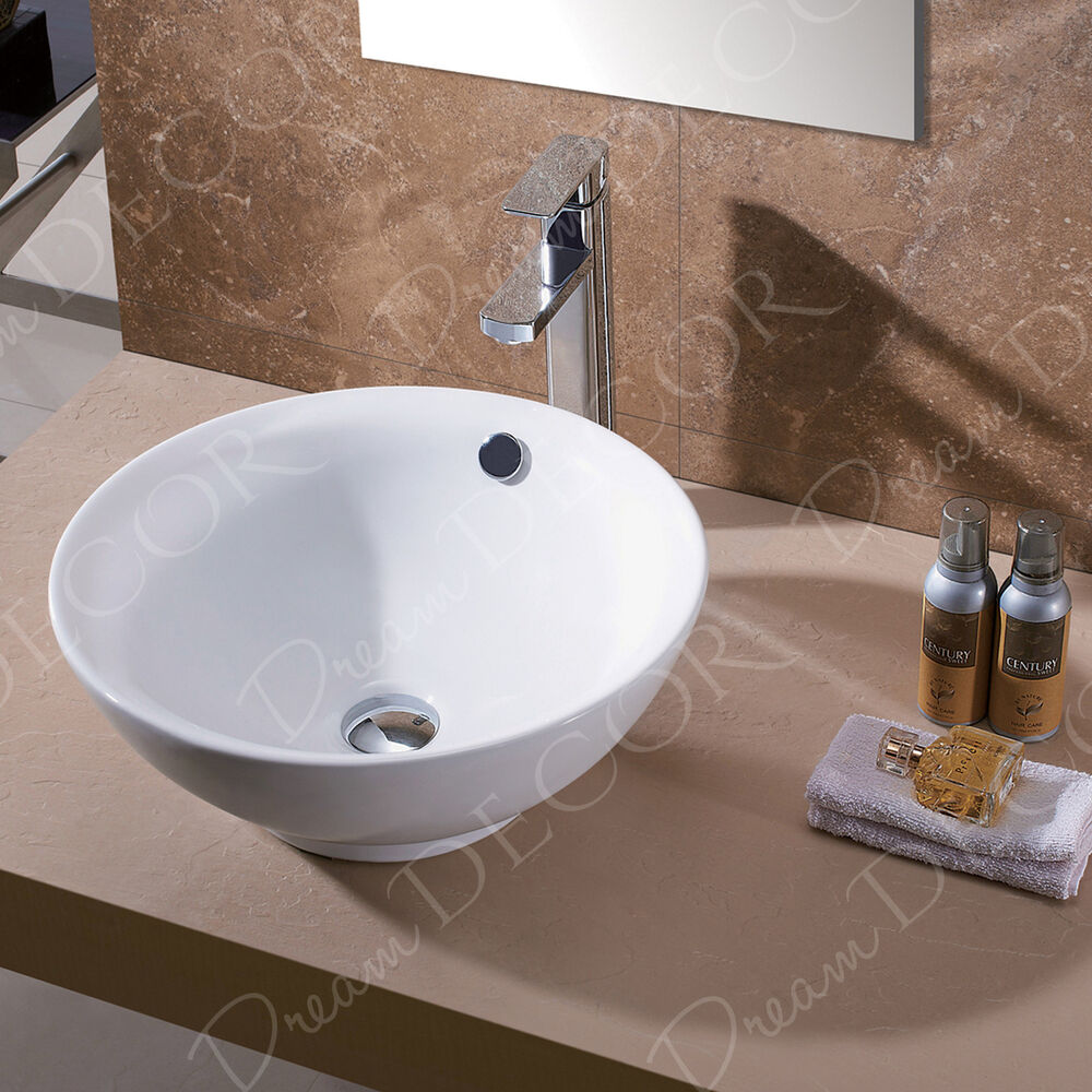 Drain For Bathroom Sink: Bathroom Porcelain Ceramic Vessel Vanity Sink & Oil Rubbed
