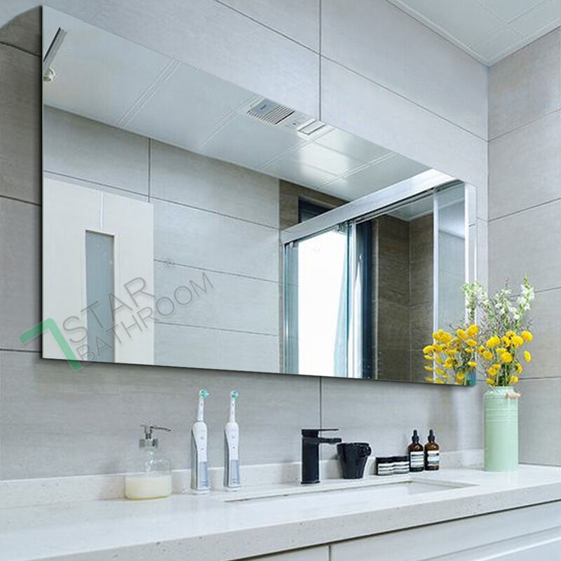1500x900mm wall mirror bathroom pencil edge shaving glossy for Mirror 900 x 600