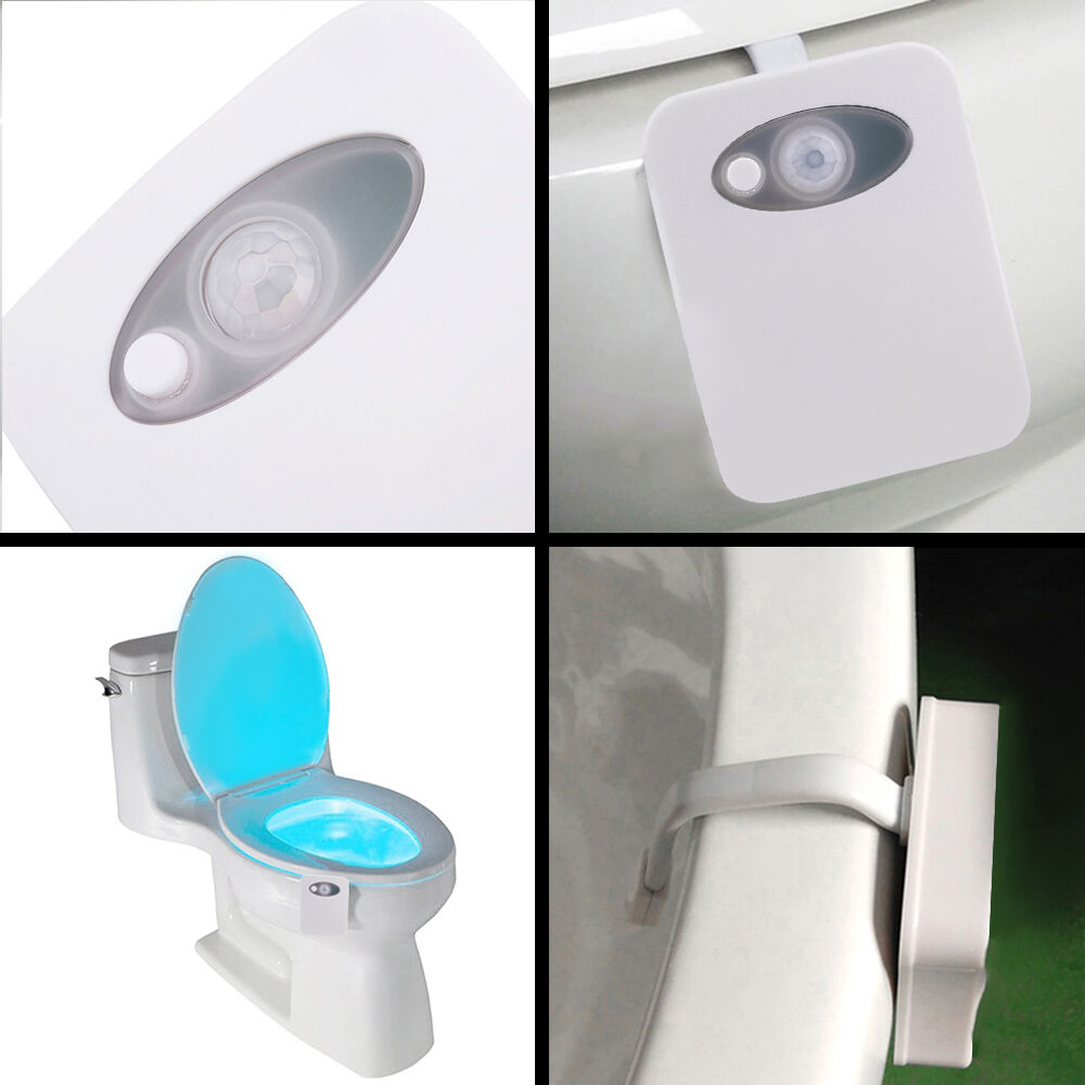 Bathroom Lighting Motion Sensor: Home Toliet Bathroom Body Auto Motion Activated Sensor