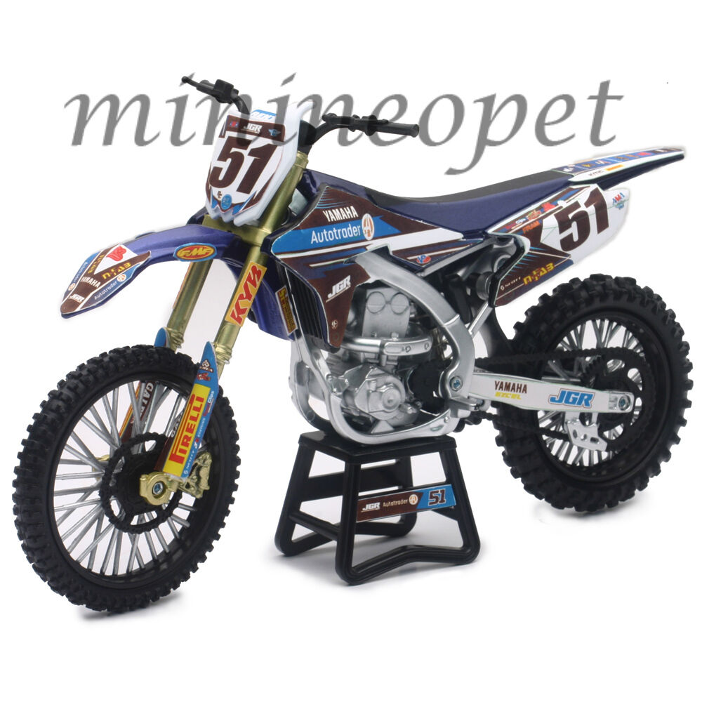 new ray 57713 motocross jgr yamaha yz 450f dirt bike 51 1. Black Bedroom Furniture Sets. Home Design Ideas