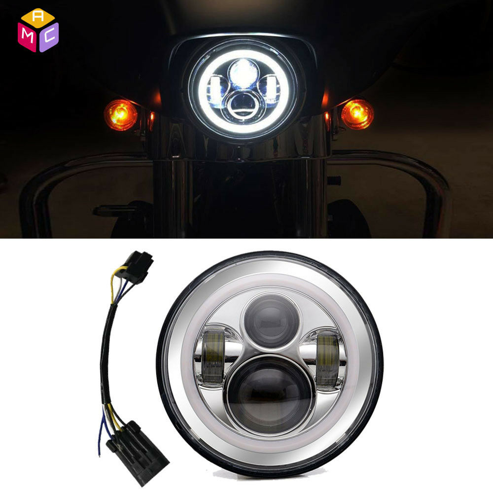 7 inch led daymaker reflector headlight for indian chief. Black Bedroom Furniture Sets. Home Design Ideas