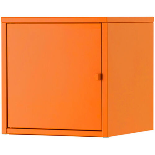 ikea lixhult schrank aus metall 35x35cm wandschrank h ngeschrank orange ebay. Black Bedroom Furniture Sets. Home Design Ideas