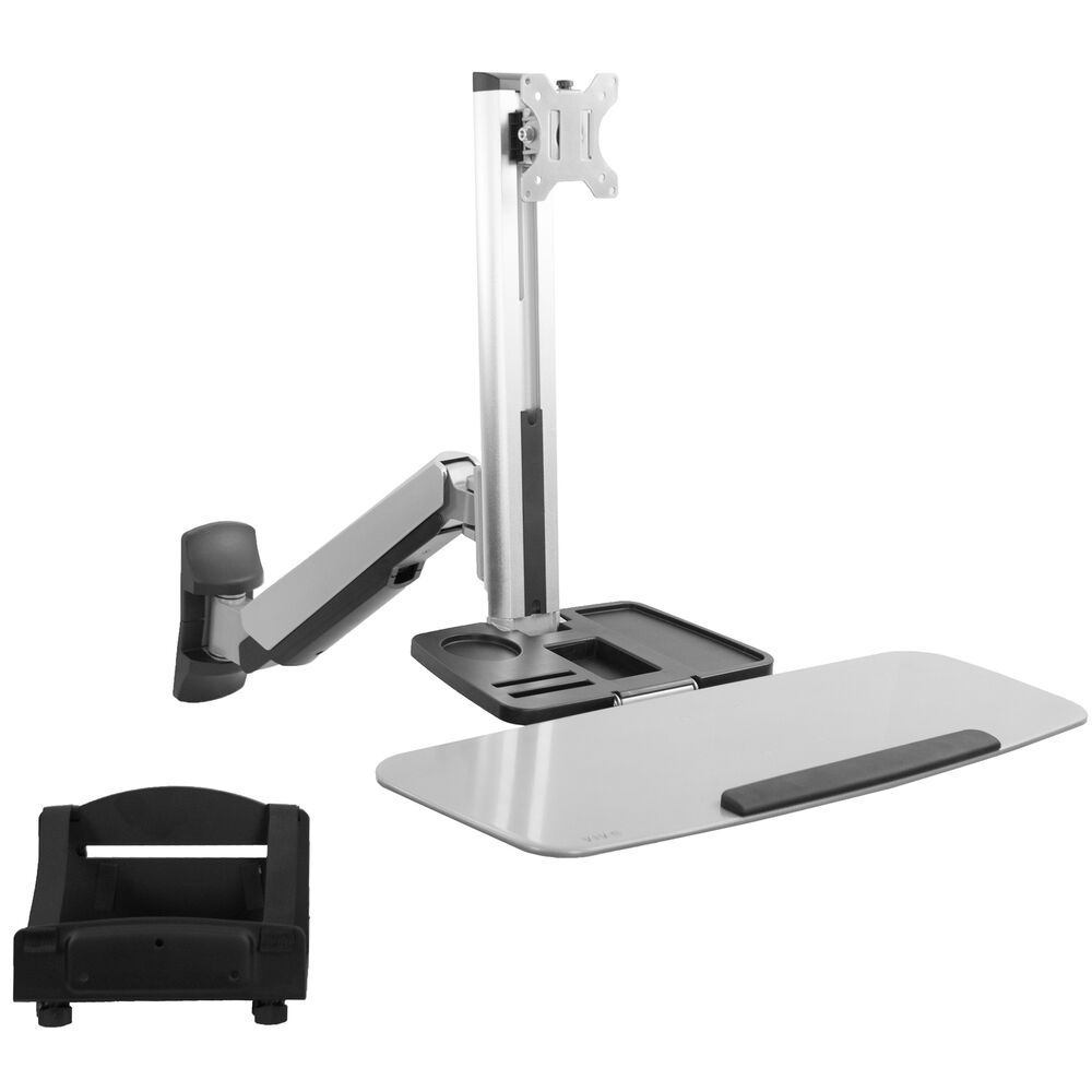 Single Monitor & Keyboard Sit-Stand Wall Mount | Standing Transition Workstation | eBay