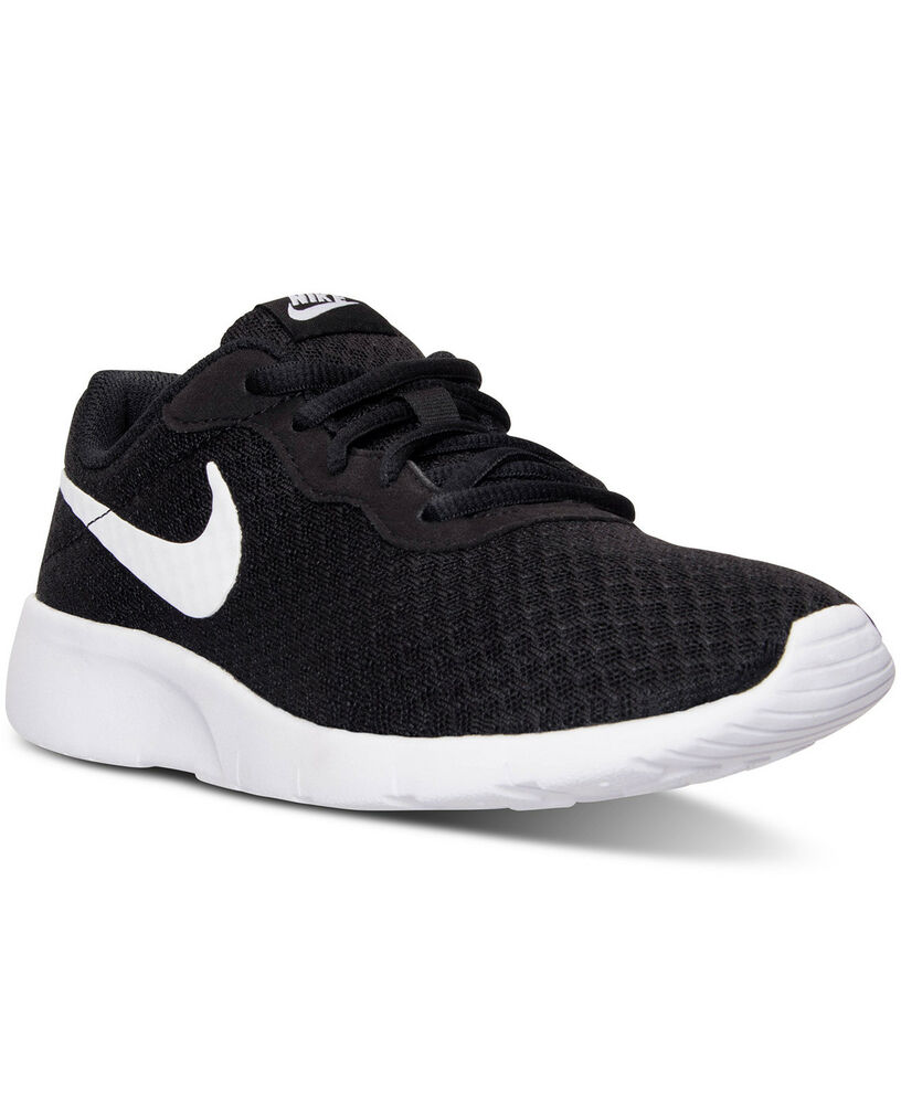 Nike TANJUN (GS) Black/White-White Big Kid 818381 011 Size 4-7 Fast Shipping | eBay