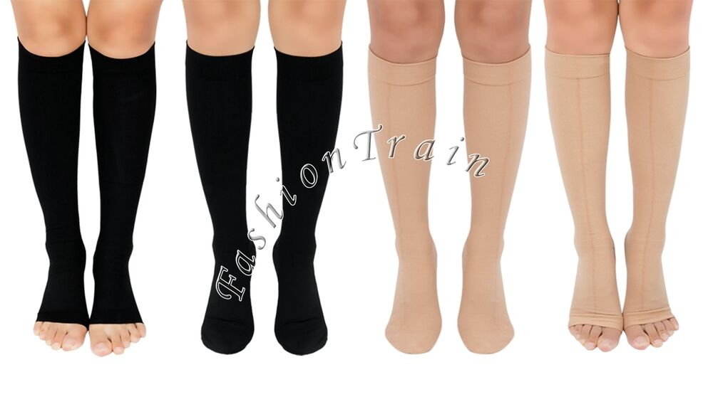Men Women Knee High Compression Socks Support Stockings ...
