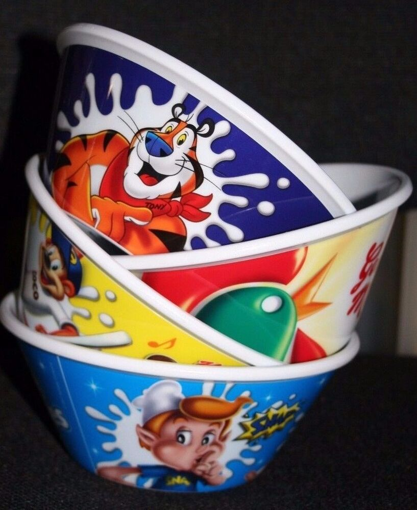 4 X Kelloggs Brand New Cereal Bowls. Limited Edition From