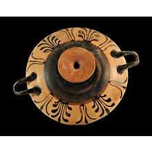 Aphrodite- Ancient  Greek Decorated Pottery Kylix or Wine Cup