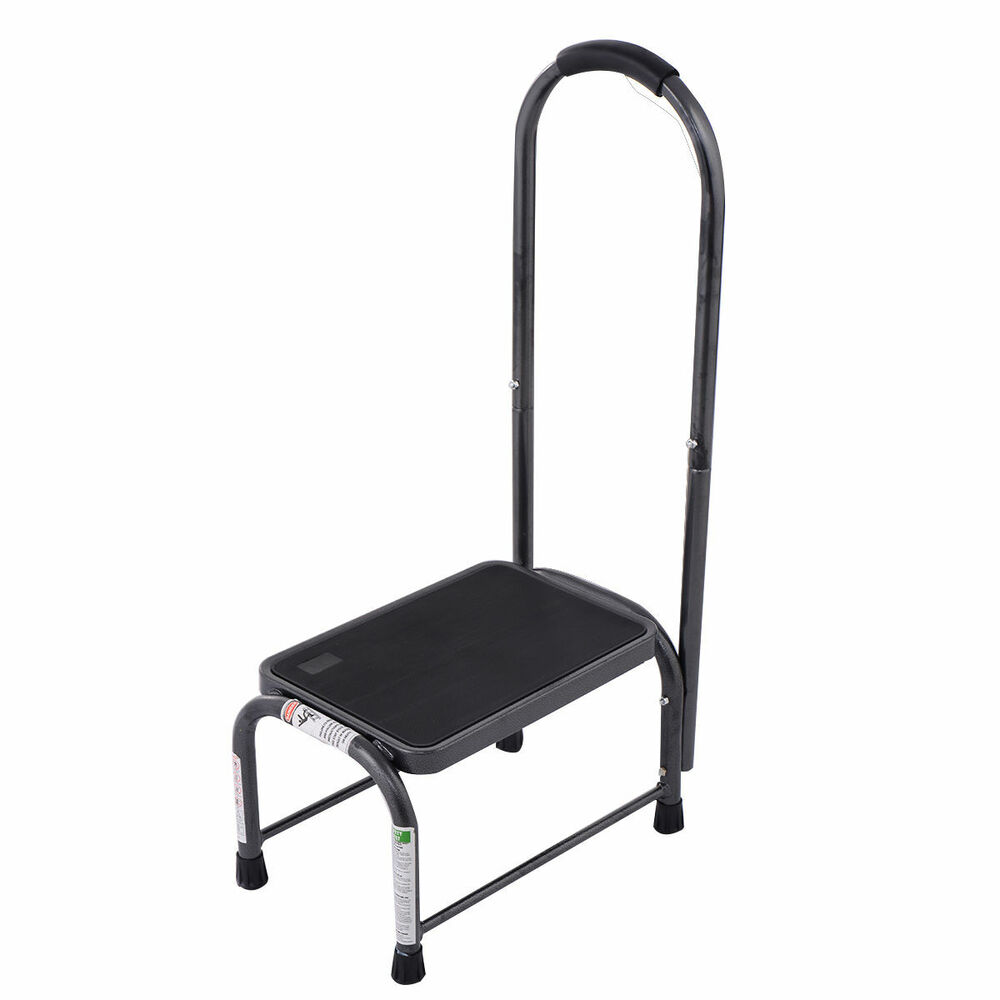 Non Slip Handy Support Step Stool W Handle 330 Lbs Load