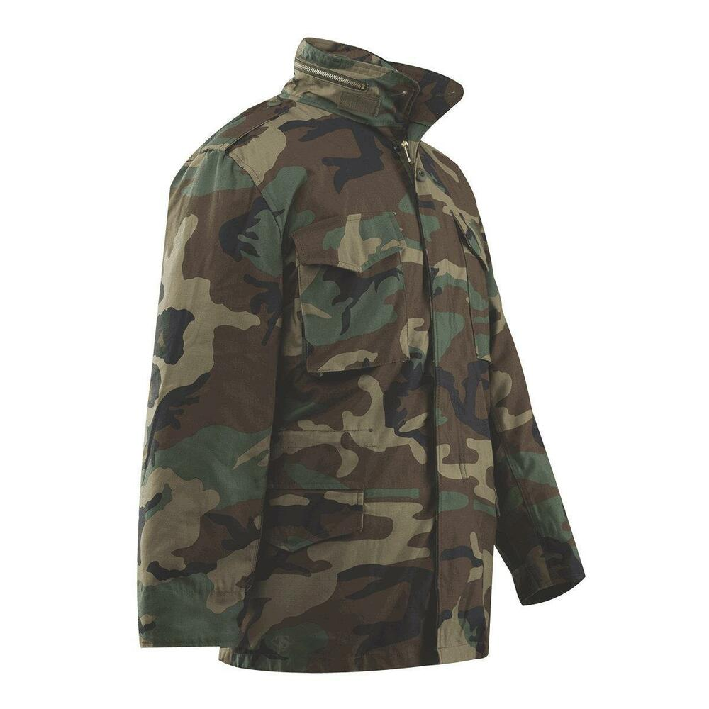 Woodland Camo Rothco M65 Field Jacket W Removable Quilted