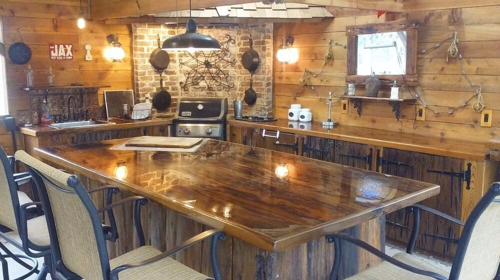 Old Growth Ancient Sinker Cypress Exotic Kitchen Countertops Wood Mancave Sample Ebay