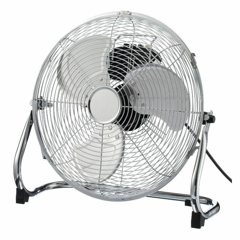 Portable Floor Fans : Blt quot cm high velocity portable chrome power floor