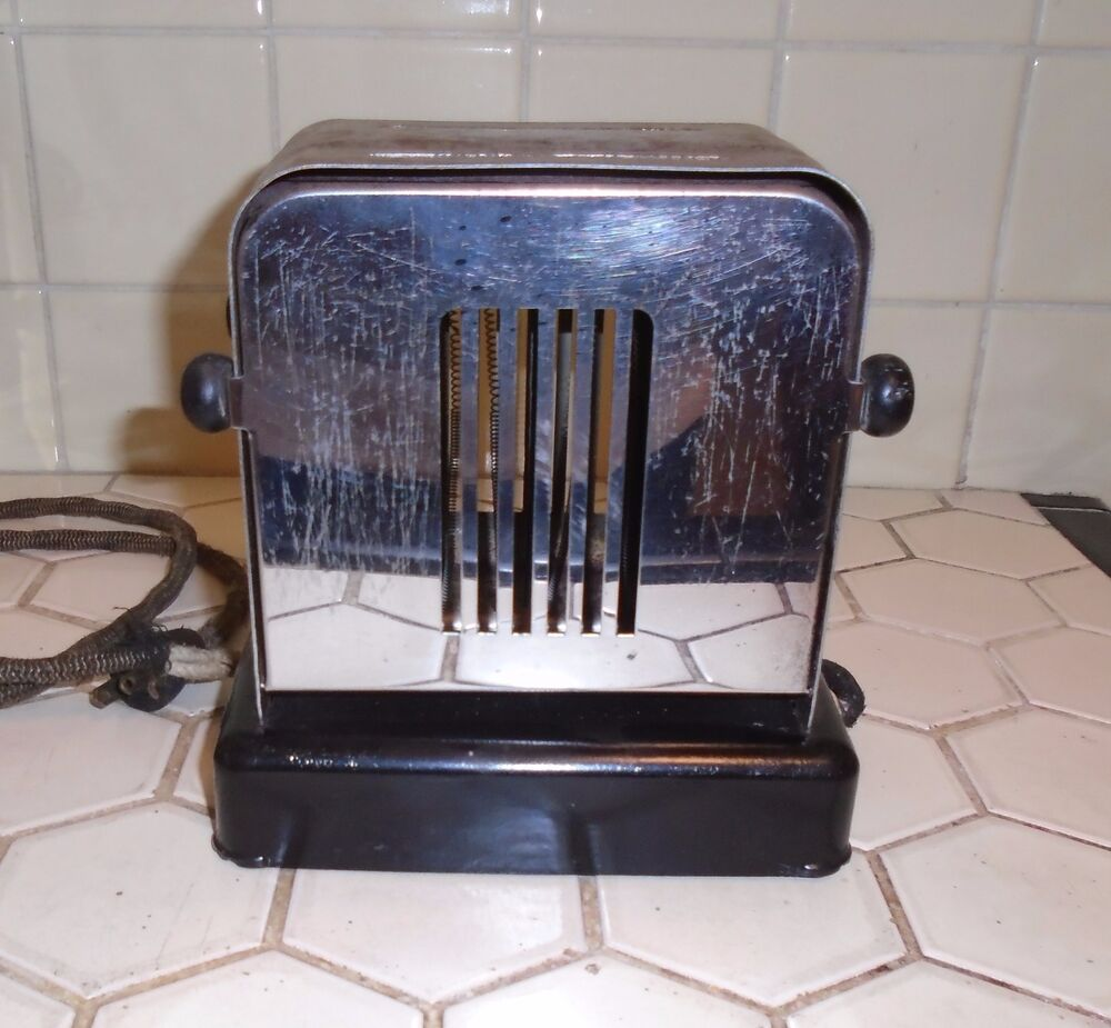 Antique Electric Toasters ~ Antique vintage montgomery ward chrome electric