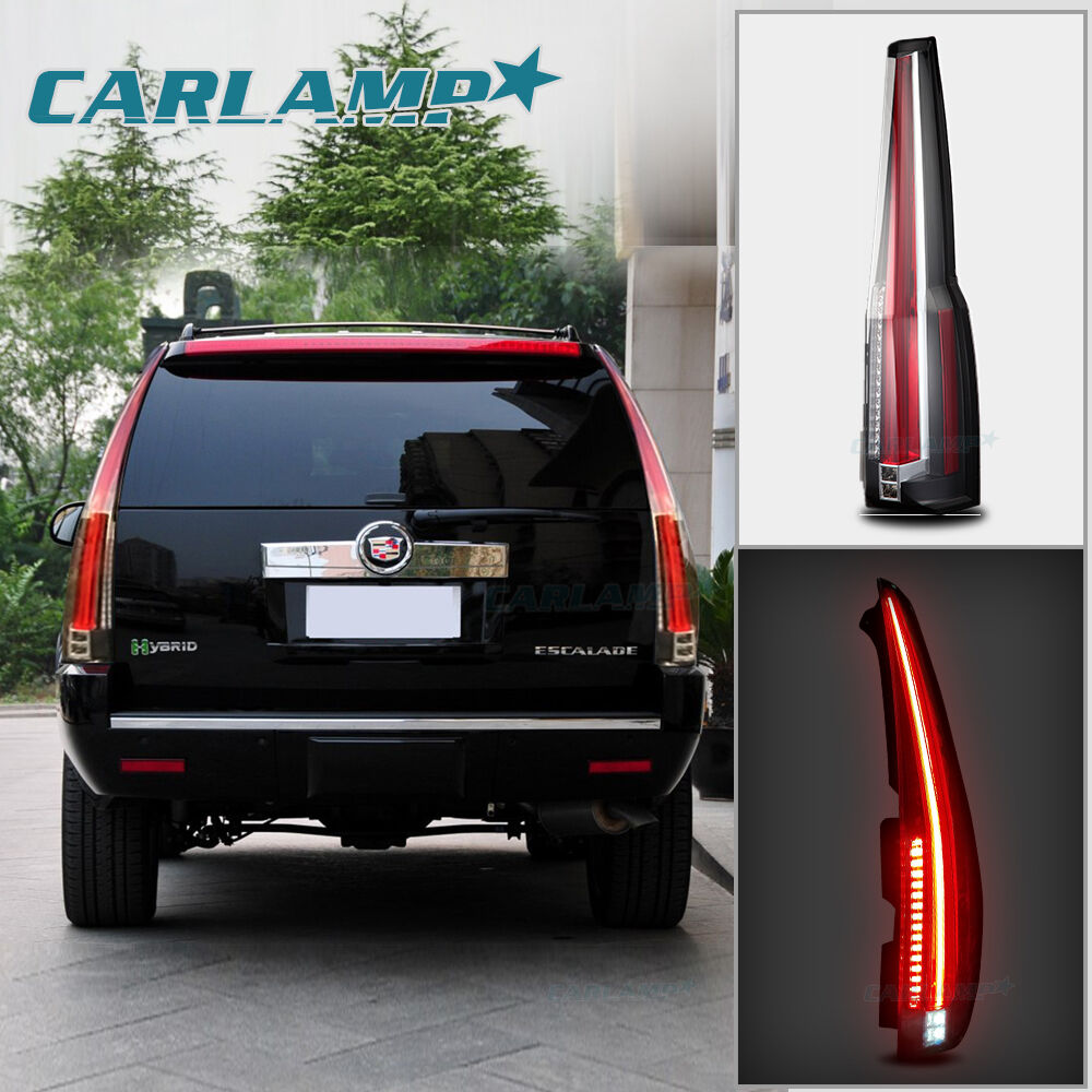 LED Tail Lights For Cadillac Escalade 2007-2014 Rear Lamp ...