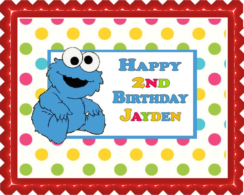 Cookie Monster - Edible Birthday Cake Topper OR Cupcake ...