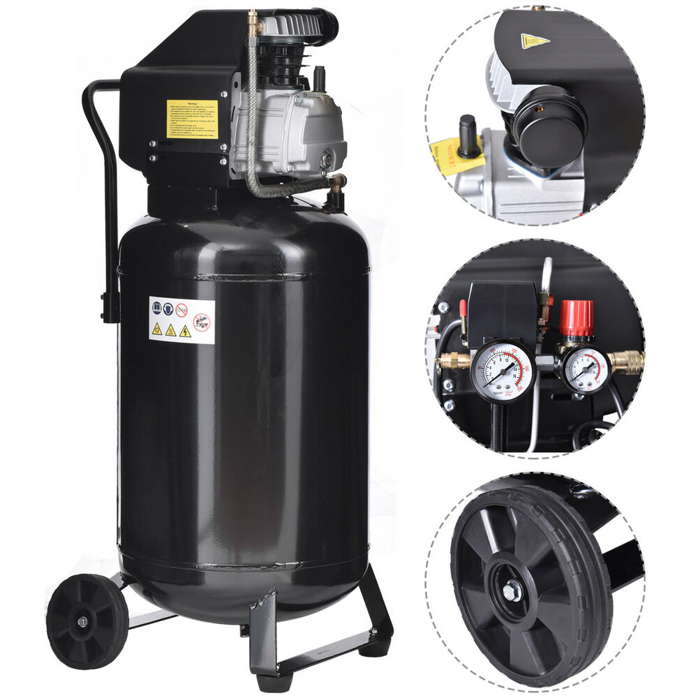 21 Gallon 125 Psi Vertical Air Compressor Cast Iron 2 5hp