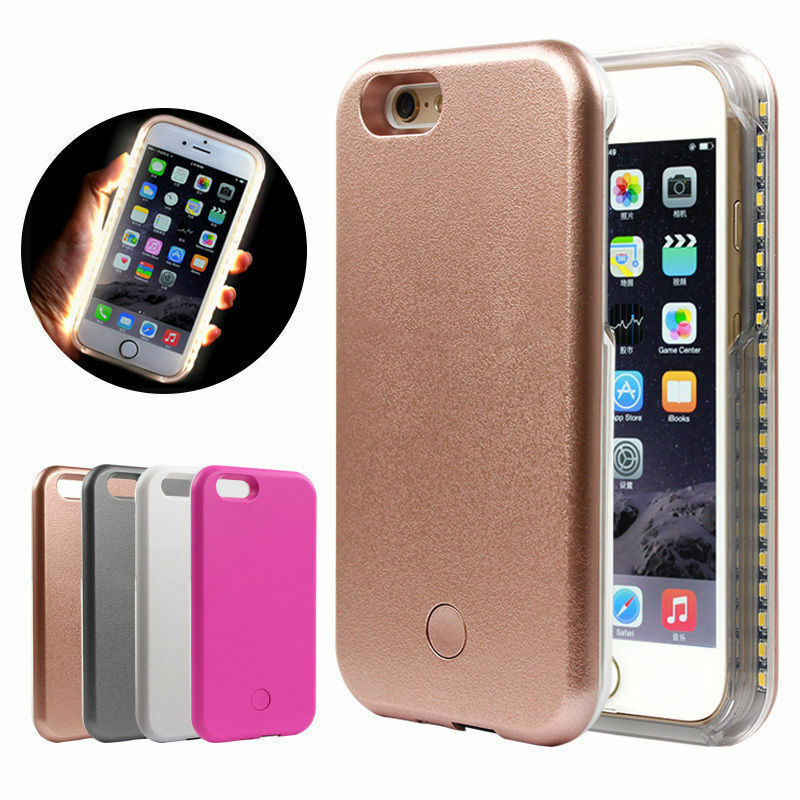 led iphone case led white light up selfie phone cover for iphone 5 6 12566