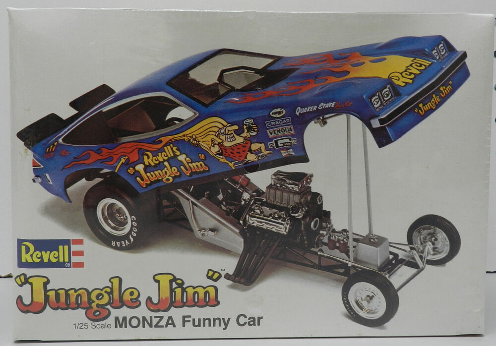 jungle jim monza funny car king drag slot car racing nos sealed revell model kit ebay. Black Bedroom Furniture Sets. Home Design Ideas