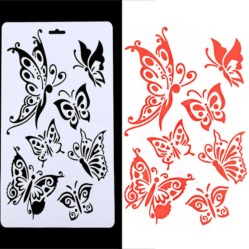 Diy Craft Butterfly Stencils Templates Painting