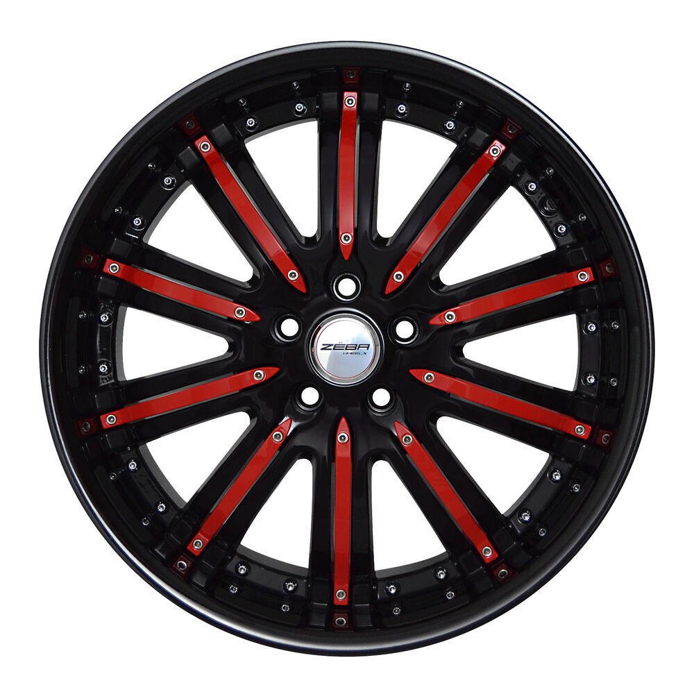 4 Gwg Wheels 20 Inch Black Red Narsis Rims Fits Dodge Charger Awd 2005 2017 Ebay