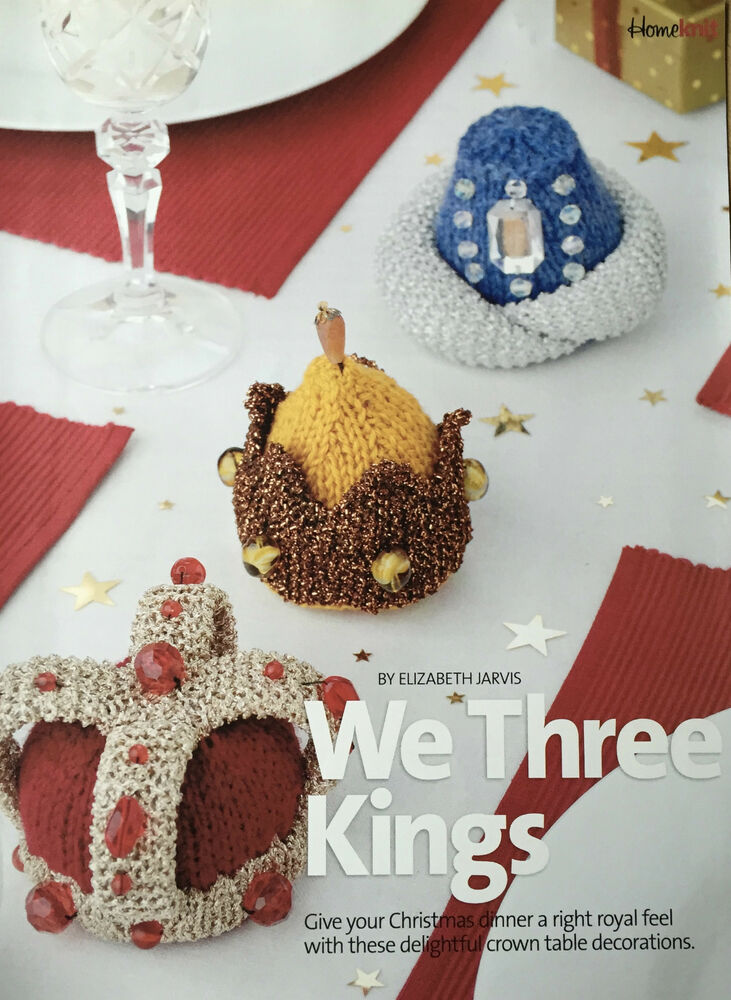 Knitting Pattern Christmas Crown Table Nativity