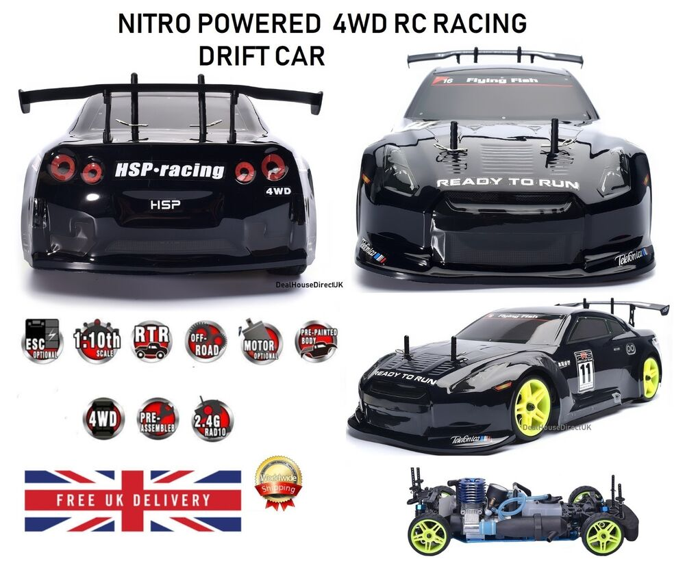 Hsp Rc Car 1 10 Scale Nitro Gas Power 4wd Off Road Truck: RC Car 4WD Nitro Gas Power Remote Control Car 1:10 Scale