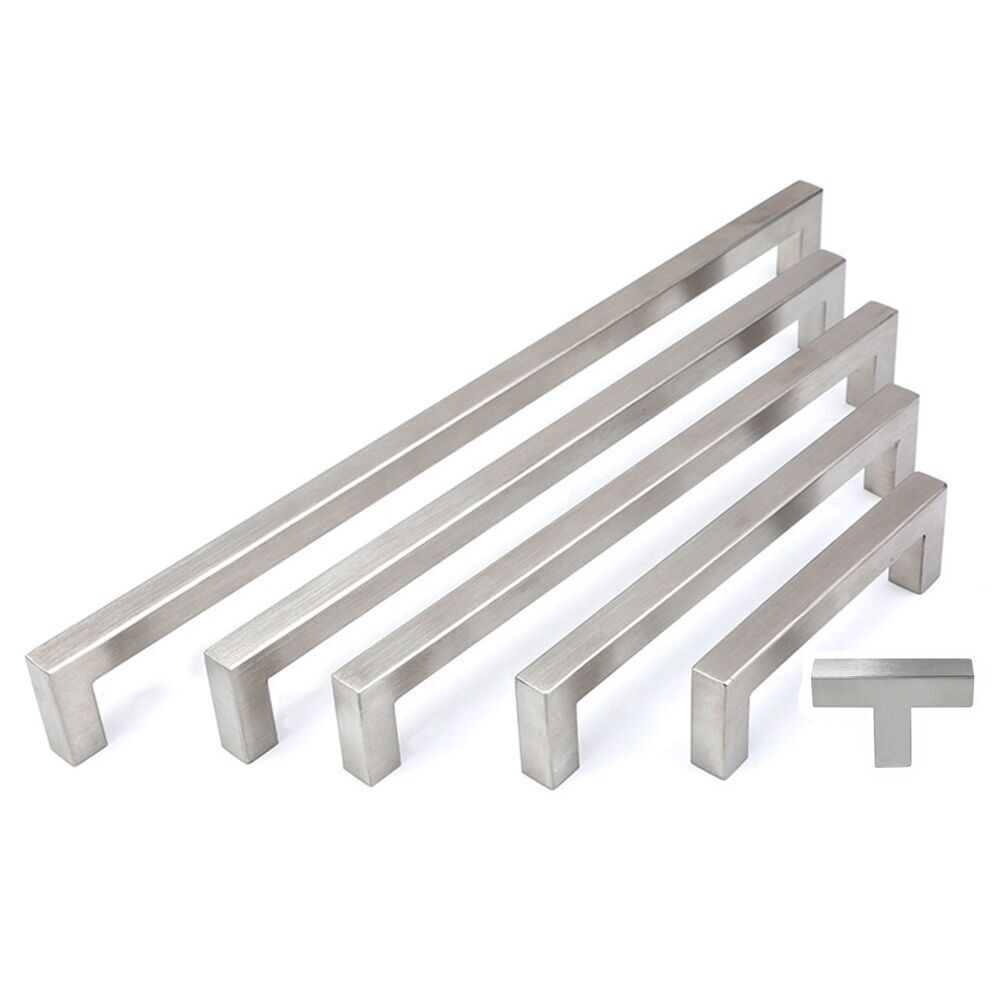 5 10 25 Cabinet Pull Square Drawer Handles Kitchen