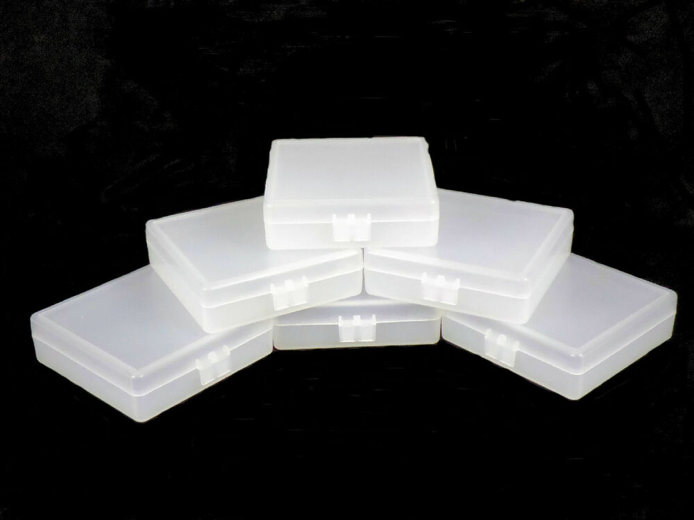 clear plastic boxes six pack of small clear plastic storage boxes ebay 29446