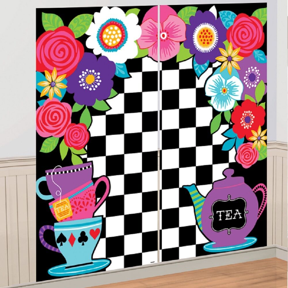 Alice in Wonderland Party Wall Decoration Scene Setter ...