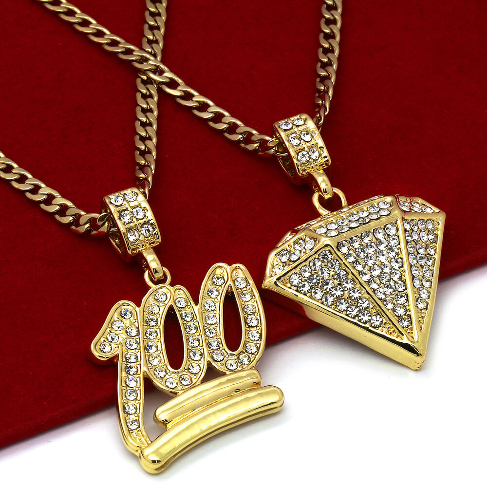 14k Gold Plated St Steel Chain 24 Quot 30 Quot 100 Emoji Dia