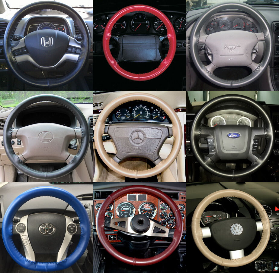Wheelskins Genuine Leather Steering Wheel Cover For