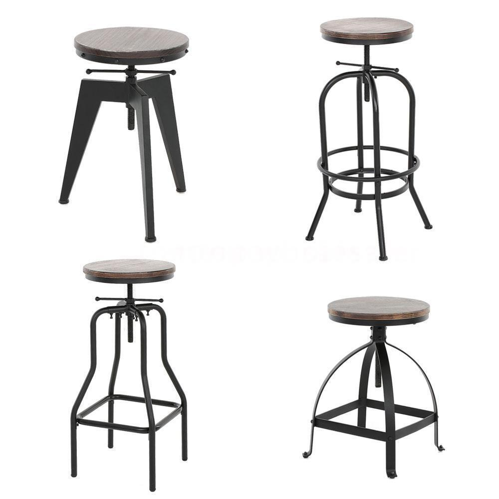 Vintage Bar Stool Industrial Metal Design Wood Top  : s l1000 from www.ebay.com size 1000 x 1000 jpeg 49kB