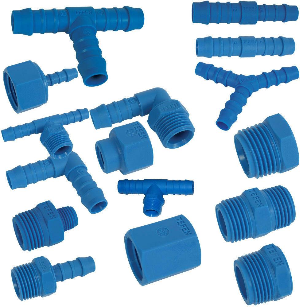 Tefen nylon pipe fittings plastic barbed joiner