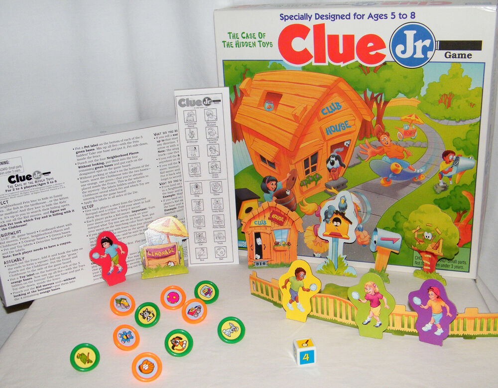 Clue Jr The Case Of The Hidden Toys Board Game Be A Detective Solve