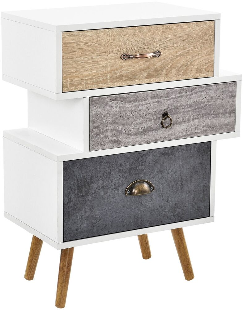 Small of chest drawers retro bedside table storage unit for Small bedside chest of drawers