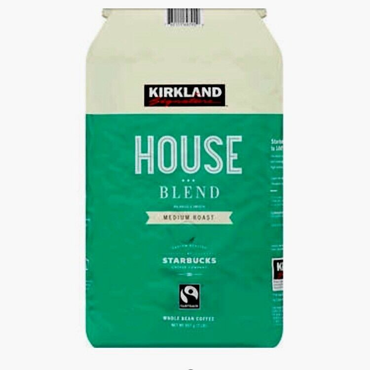 2 Lb Bag Kirkland House Blend Medium Roast Whole Bean ...