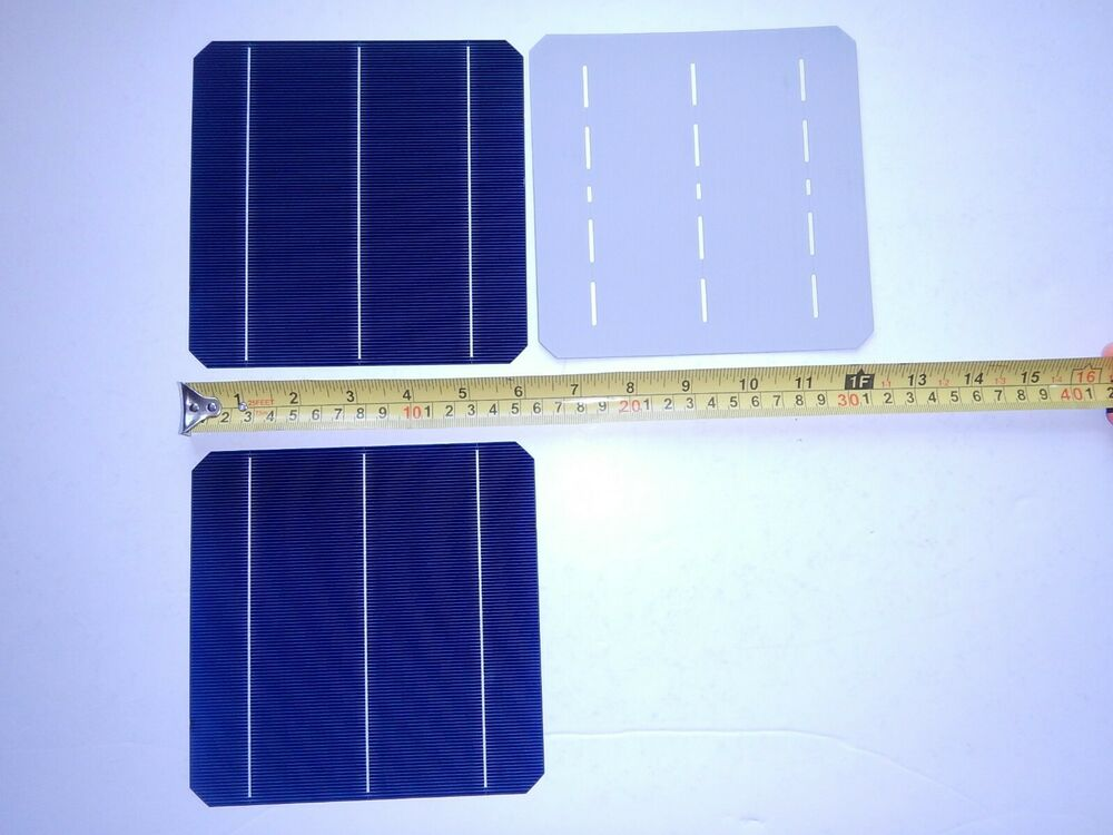 Single 6x6 Very High Efficiency Mono Solar Cells Over 8 Amps Each Ebay