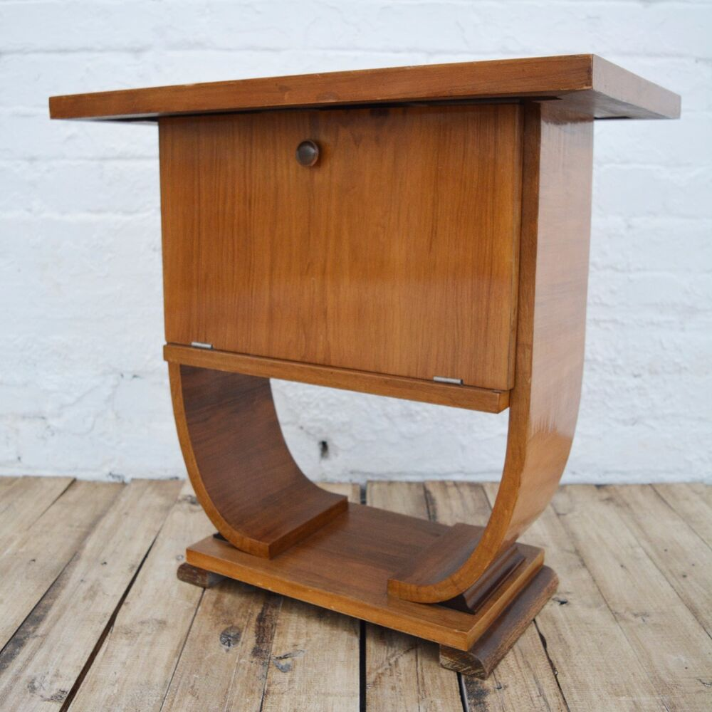 Art deco french antique occasional table small cabinet side table ebay - Deco table vintage ...