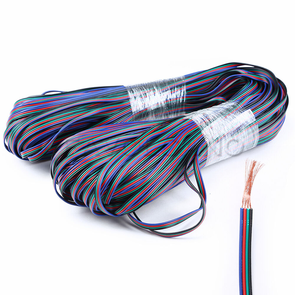 Rgb 4 Pin Extension Cable Wire Connector Cord For 3528